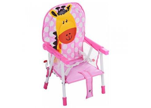 Стульчик-трансформер 2в1 (для кормления+стульчик) GL 217С-909 Жираф, розовый