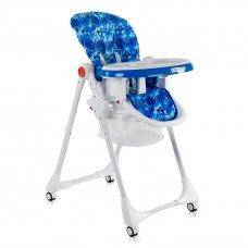 Детский стульчик для кормления JOY Космос К-22810 бело-синий