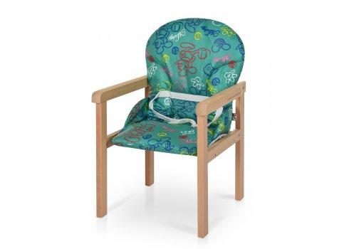 Деревянный стульчик для кормления-трансформер RH-3 зеленый