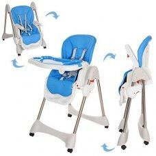 Стульчик для кормления, регулируется спинка, Bambi M 3216-2-4 синий