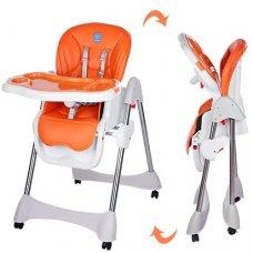 Стульчик для кормления, регулируется спинка, Bambi M 3216-2-7 оранжевый