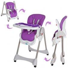 Стульчик для кормления, регулируется спинка, Bambi M 3216-2-9 фиолетовый