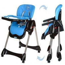 Стульчик для кормления, регулируется спинка, Bambi M 3216-4 синий
