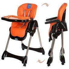 Стульчик для кормления, регулируется спинка, Bambi M 3216-7 оранжевый