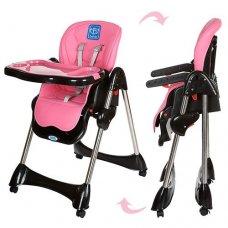 Стульчик для кормления, регулируется спинка, Bambi M 3216-8 розовый