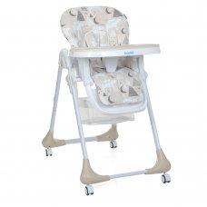Детский стульчик для кормления на колесиках M 3233 Mommy Bear Beige бежевый