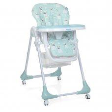 Детский стульчик для кормления на колесиках M 3233 Puppy Boy Blue голубой