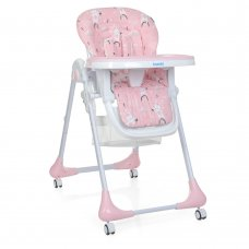 Детский стульчик для кормления на колесиках M 3233 Rabbit Girl Pink розовый