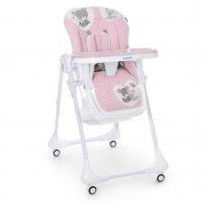 Детский стульчик для кормления M 3233 Teddy Pink розовый