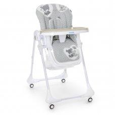 Детский стульчик для кормления M 3233 Teddy Gray серый