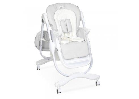 Детский стульчик для кормления на колесиках EL CAMINO M 3236 Light Gray серый