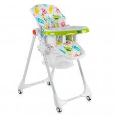 Детский стульчик для кормления JOY Монстрики К-33740 бело-салатовый