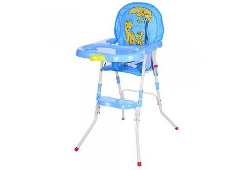 Cтульчик-трансформер 2в1 (для кормления+стульчик) M 3508-4, голубой