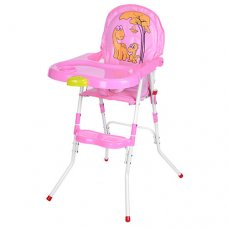 Cтульчик-трансформер 2в1 (для кормления+стульчик) M 3508-8, розовый