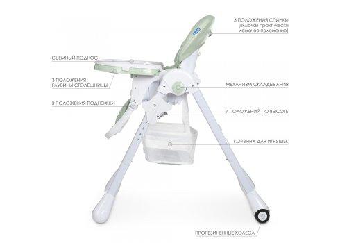 Стульчик для кормления BAMBI M 3890 Pale Green QT зеленый