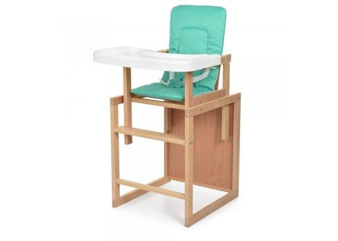 Деревянный стульчик для кормления-трансформер R3 зеленый
