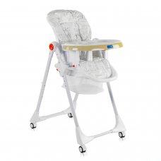 Детский стульчик для кормления JOY Мишки К-44009 бело-бежевый