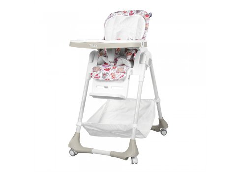 Высокий стульчик для кормления с регулируемой спинкой, Tilly Bistro T-641/1 Grey