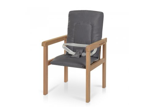 Деревянный стульчик для кормления-трансформер R6 серый