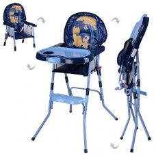 Cтульчик-трансформер 2в1 (для кормления+стульчик) HC100A BLUE, сине-голубой