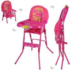 Стульчик-трансформер 2в1 (для кормления+стульчик) HC100A PINK, розовый