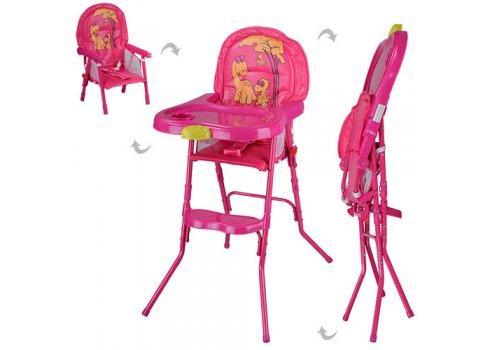 Cтульчик-трансформер 2в1 (для кормления+стульчик) HC100A PINK, розовый