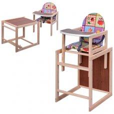 Деревянный стульчик для кормления, трансформер 2в1, VIVAST М V-001-12 разноцветный