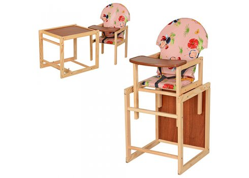 Деревянный стульчик для кормления, трансформер 2в1, VIVAST М V-002-1