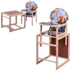 Деревянный стульчик для кормления, трансформер 2в1, VIVAST М V-002-13