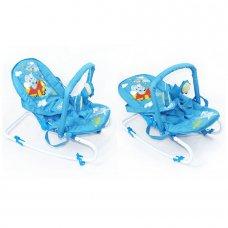 Детский шезлонг-качалка с регулируемой спинкой, BT-BB-0001 BLUE