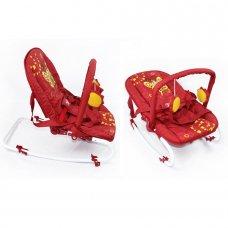 Детский шезлонг-качалка с регулируемой спинкой, BT-BB-0001 RED