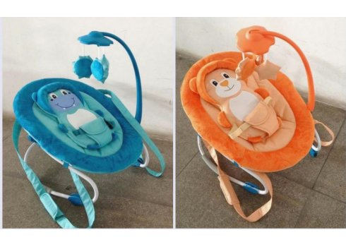 Детский шезлонг-качалка с регулируемой спинкой, BT-BB-0002 BLUE