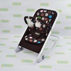 Детский шезлонг-качалка на алюминиевой раме, BT-BB-0005 COFFEE