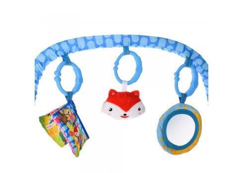 Детский шезлонг качалка Bambi 303-4 синий