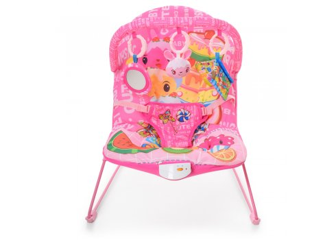 Детский шезлонг качалка Bambi 303-8 розовый