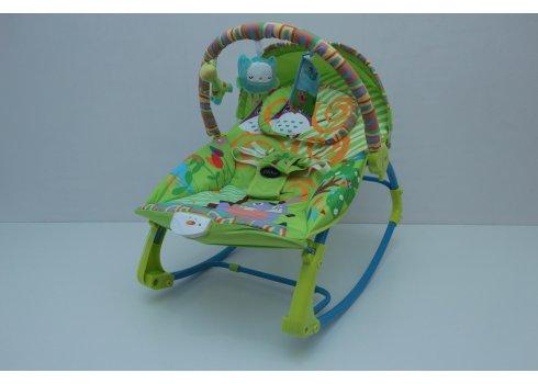 Напольный шезлонг-качалка с регулируемой спинкой Bambi PK-306-5 зеленый