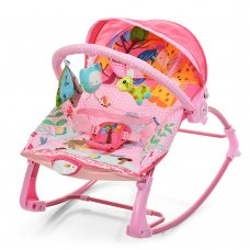 Напольный шезлонг-качалка с регулируемой спинкой Bambi PK-306-8 розовый