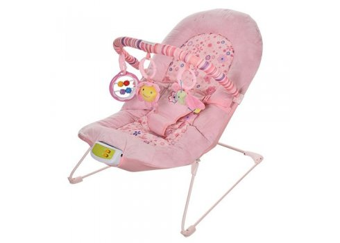 Детский шезлонг с виброблоком, Bambi 30602 розовый