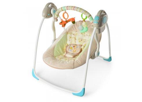 Детские электрокачели Bambi 32008 бежевый