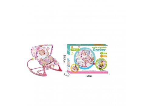Детский шезлонг-качалка с регулируемой спинкой 432-7 Мышка