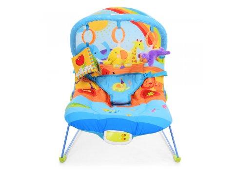 Детский шезлонг-качалка с регулируемой спинкой Радуга, 60668 синий
