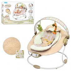 Детский шезлонг-качалка музыкальный, Bambi 60683-1 бежевый