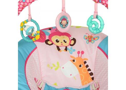 Детский музыкальный шезлонг-баунсер Mastela 6316 сине-розовый