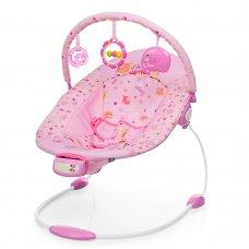 Детский музыкальный шезлонг-баунсер Mastela 6358 розовый