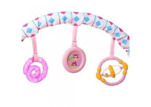 Детский шезлонг-баунсер Mastela 6790 розовый