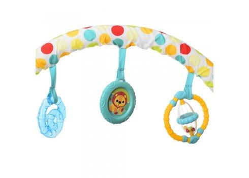 Детский шезлонг-баунсер с регулируемой спинкой Mastela 6876