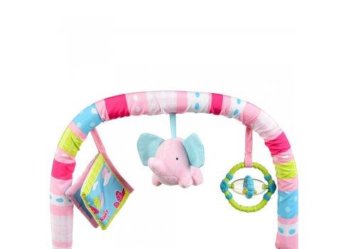 Детский шезлонг-качалка 2 в 1 Mastela 6921 розовый