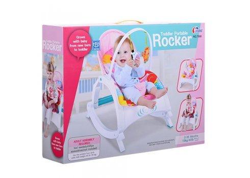 Детское кресло-качалка 2в1, 7688 розовый