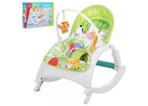 Детское кресло-качалка 2в1, 7888 салатовый