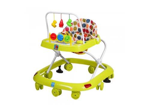 Детские ходунки с игровыми подвесками, M 0541C-2 зеленый